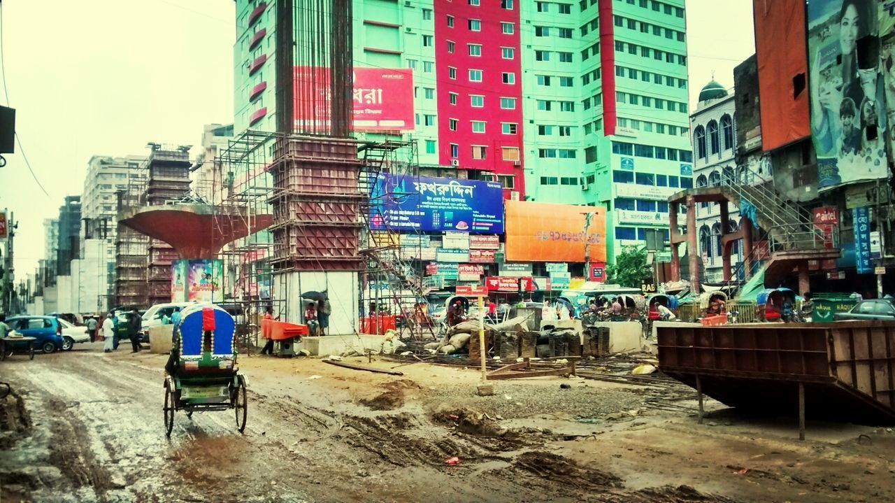 Cityscapes Under Construction Street Photography Dhaka