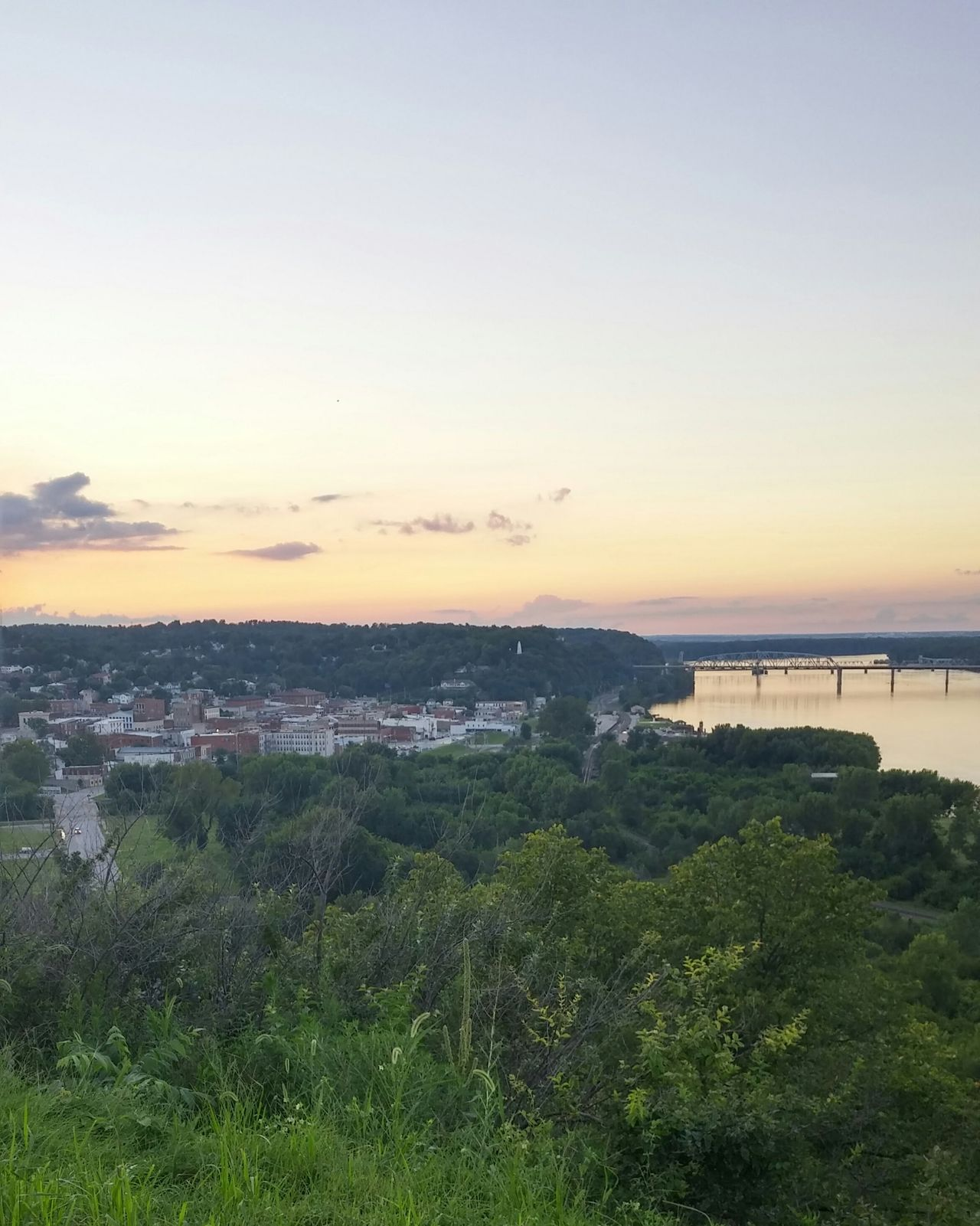 Cozy Town Sunset Riverfront River Mississippi River Hannibal Small Town Missouri Hometown