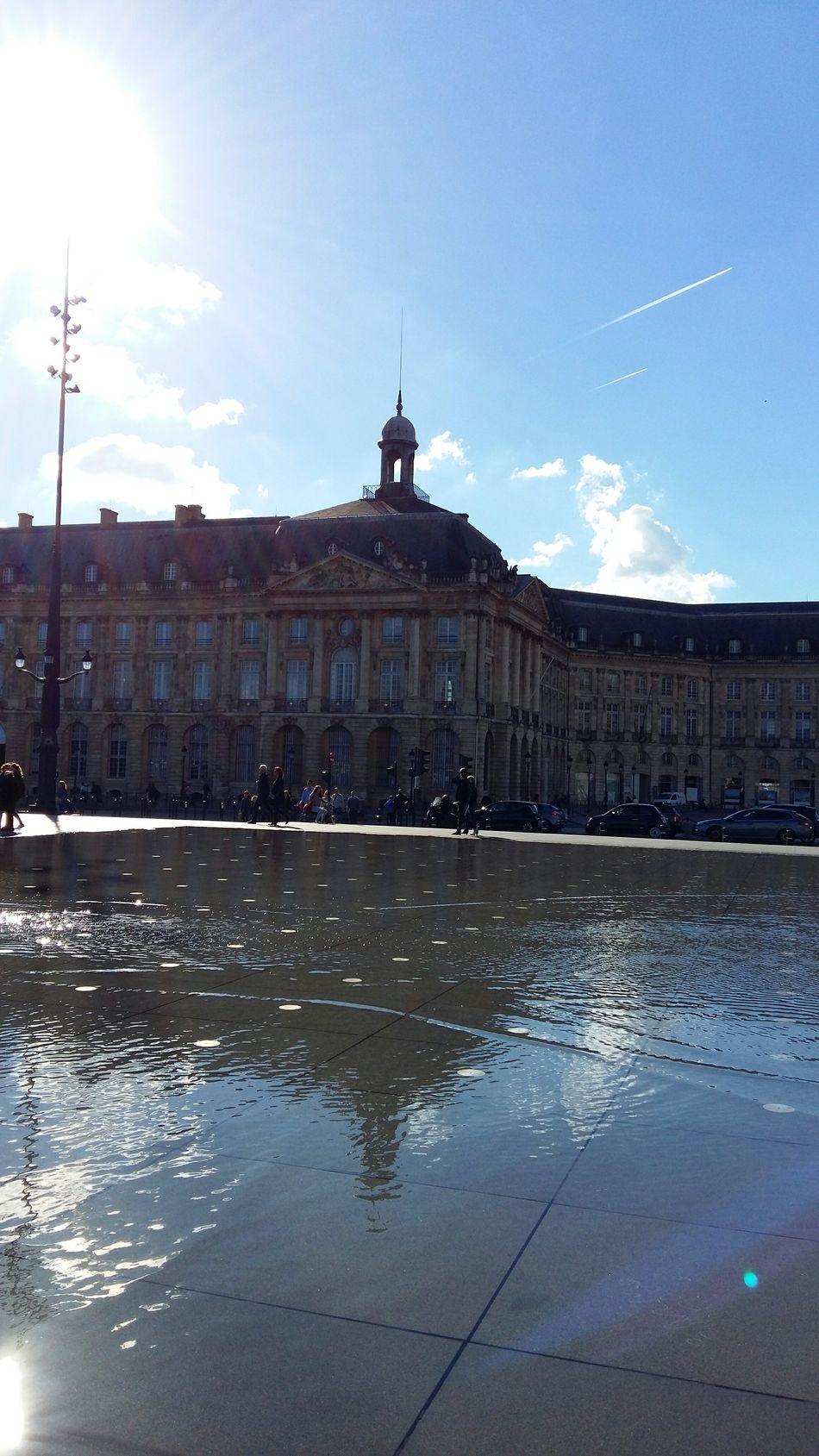 Bordeaux Place De La Bourse Miroir D'eau Reflection Sunny Day Cloudy Sky Architecture Outdoors France My Year My View The City Light