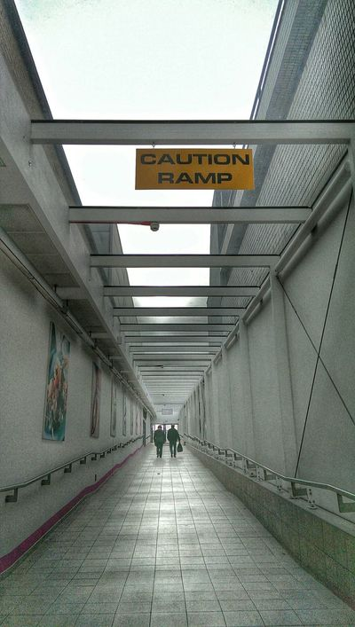 Says It All Stating The Obvious Signs - Warnings People Watching Glass Pink Vanishing Point Path To Nowhere