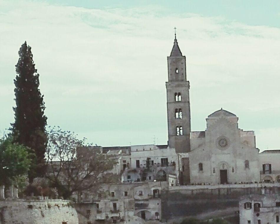 Memories of holiday Italy Basilicata Matera Tipical Church Church Bell Tower Rose Window