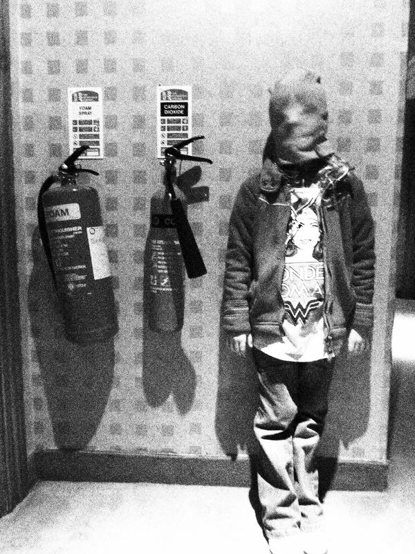 Blackandwhite Cap Fireextinguisher Hotel Kids MAS Pose Wonderwoman