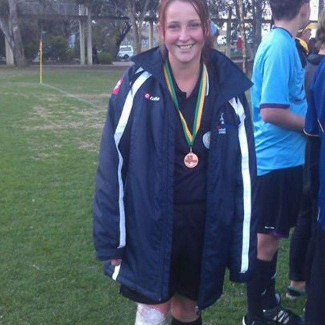 After the 16 female cup final :) I was AR for 3/4 aha Kangaa Canberraaa Ouch Hugekiwijacket ourcolourisbleck