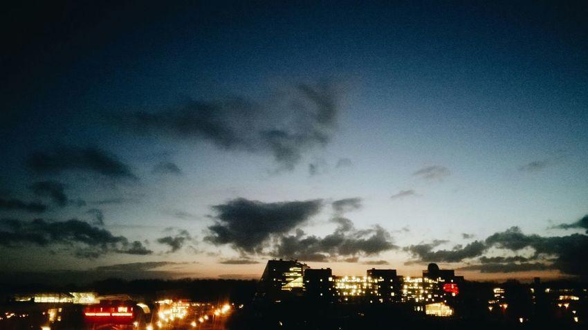 The Purist (no Edit, No Filter) Sunrise Sky Clouds Cityscape Taking Photos Myfuckinggroningen