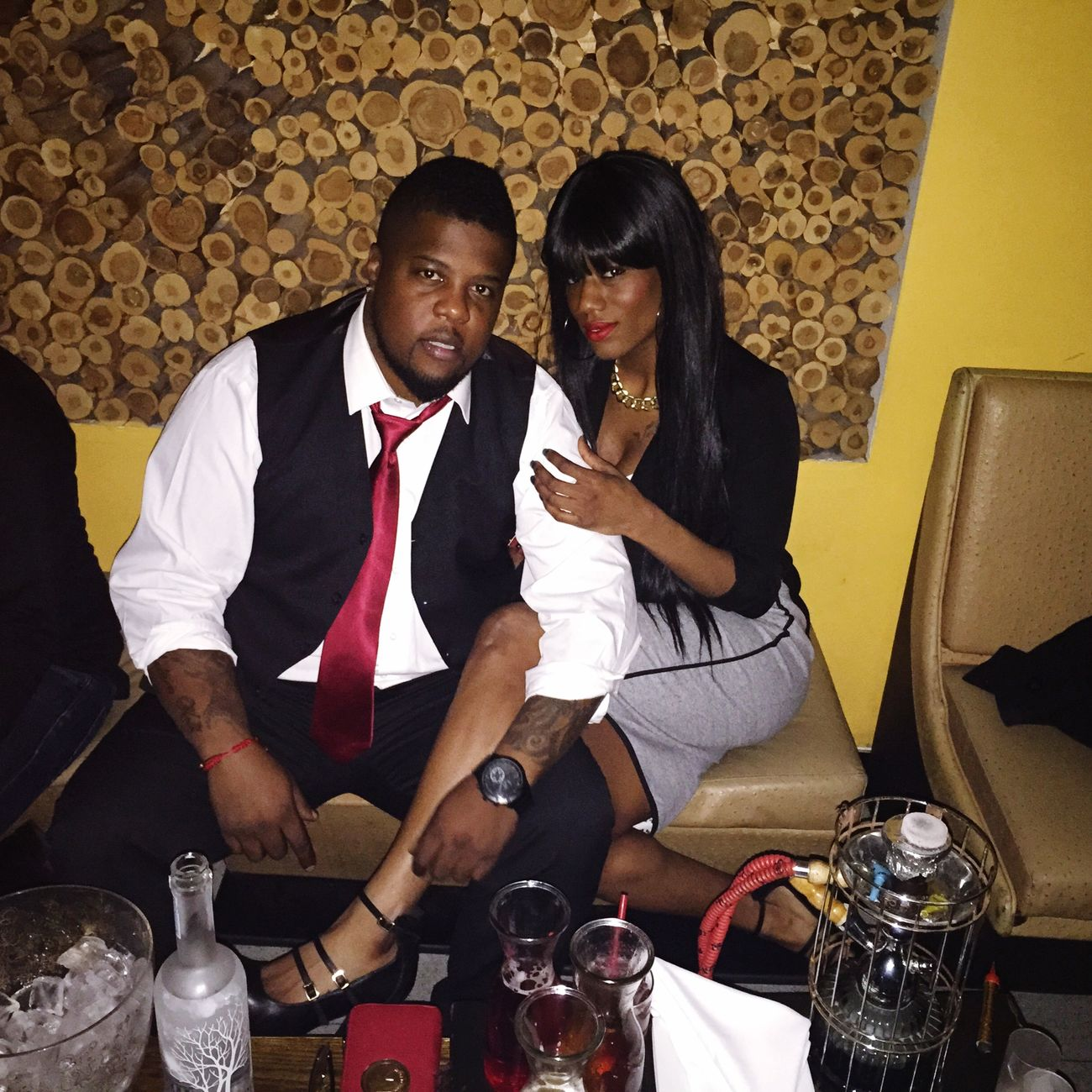 NYCNights 3piece Suit with arm Candy belvedere Hookah Beardgang EyeEm Best Shots Love A man and his Lady...