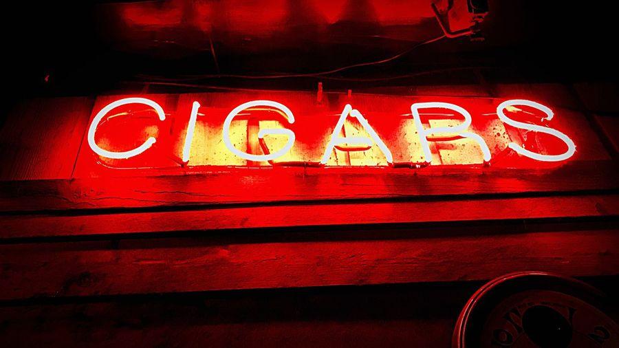 Cigars Neon Smoke Red MakeCigarsGreatAgain