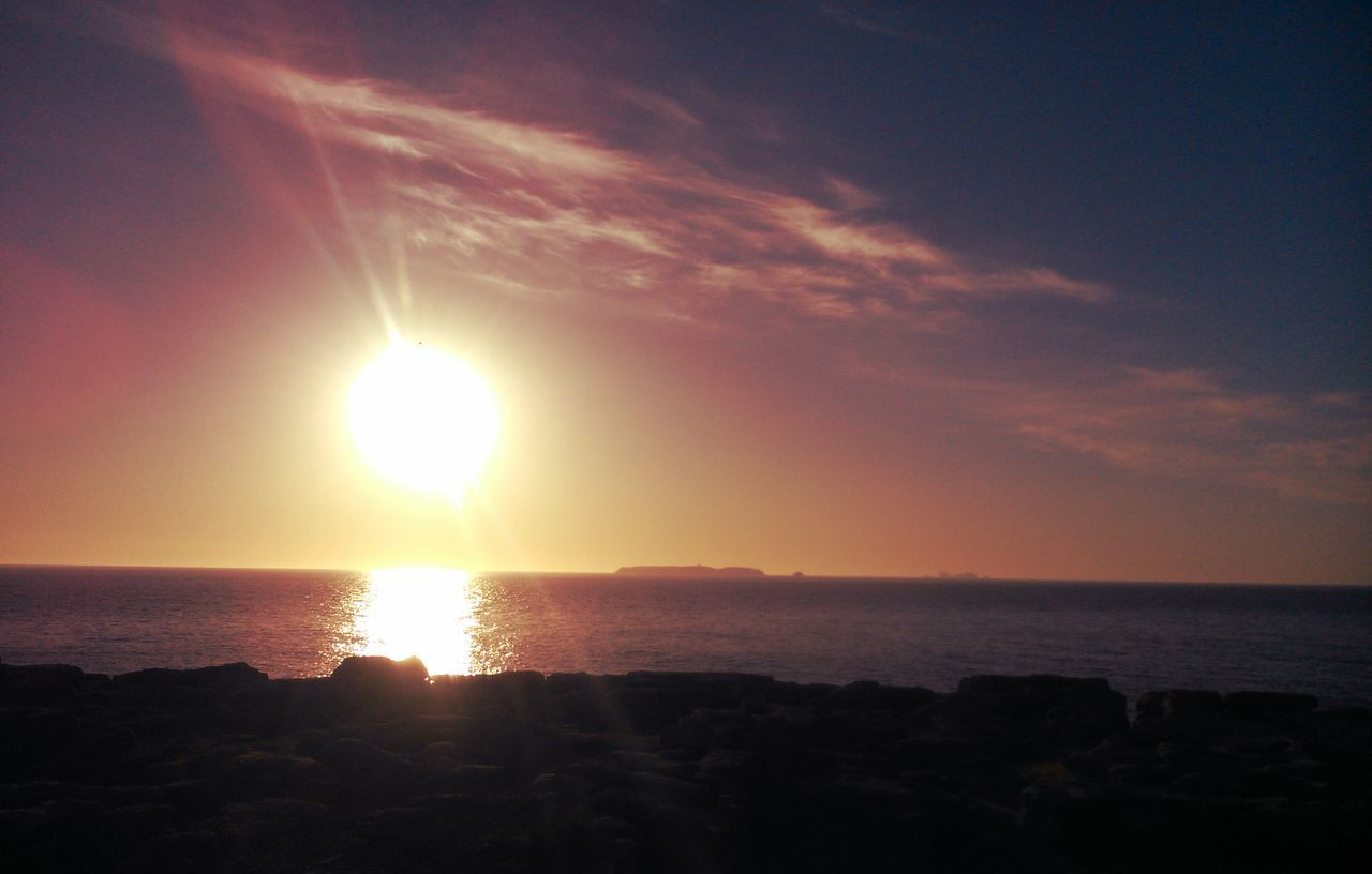 View Of Sea At Sunrise