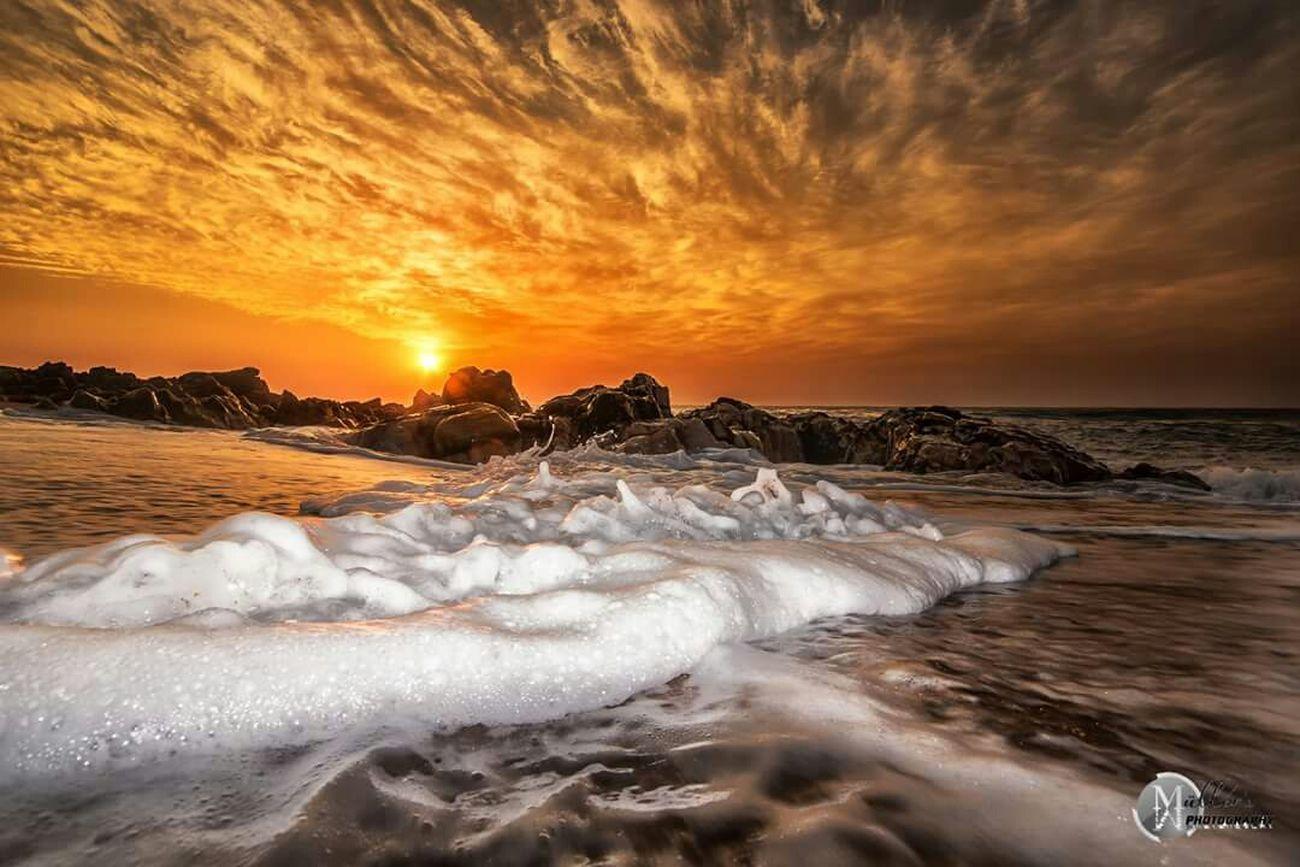 Spume Sea Seascape Rocks And Water Sea And Sky Sunrise Hibberdene
