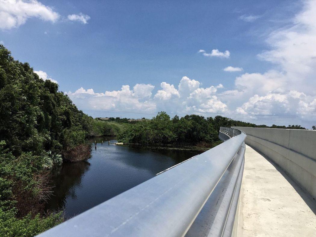 The new bridge over the Eau Gallie River Eau Gallie Melbourne Florida River View Riverscape Bridge View Bridge Bridge Over Water Bridgescape