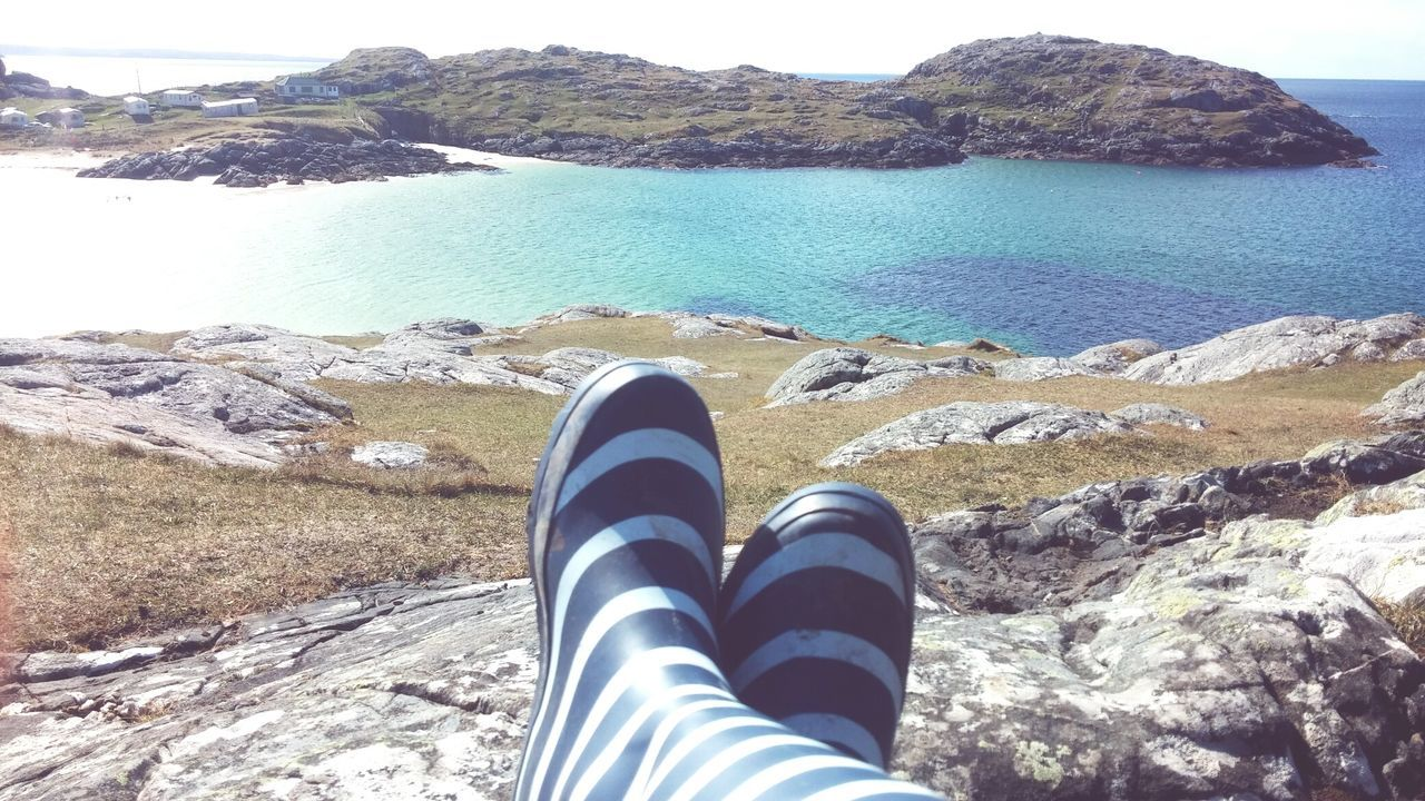 Personal Perspective Beach One Person Water Shoe Lifestyles Sand Day Sea Nature Outdoors Live For The Story From My Point Of View Rainboots Enjoying The Sun Enjoying The View Enjoying Life Scotlandsbeauty Highlands Scotland The Wonders Of Nature