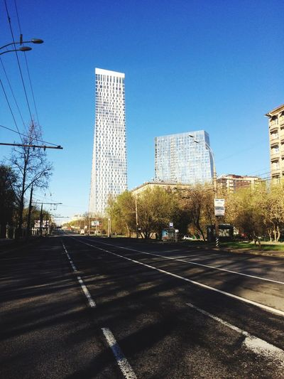 Architecture Clear Sky City No People Cloud - Sky Good Morning Go To Work Built Structure Road Cityscape