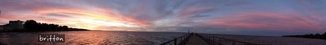 9/8/2013, 8:00pm - Panoramic view after Sunset on Lake Erie. Skyporn Sun_collection