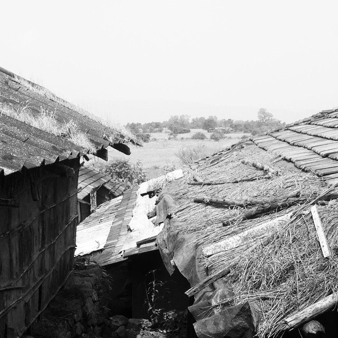 Pethfort Village_atop Isolation Blackandwhite Tribal Travelling TrekkingDay