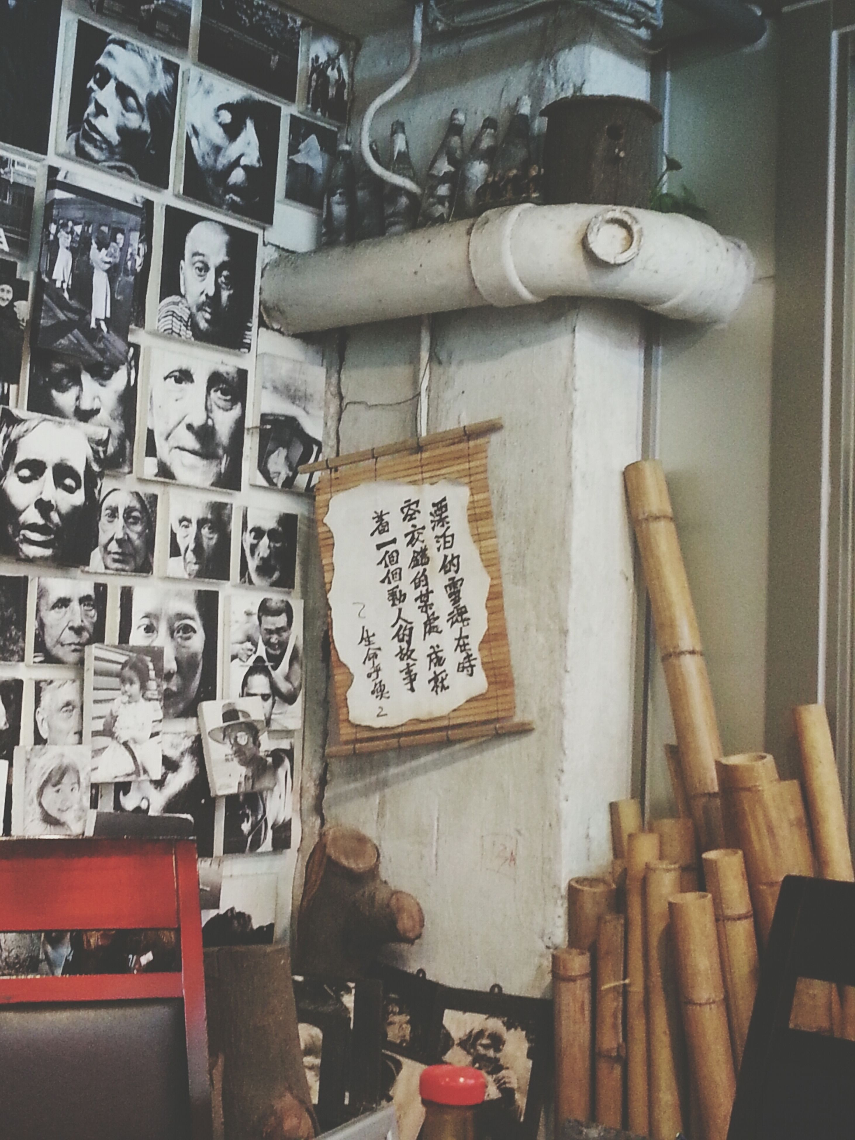 indoors, old, full frame, wood - material, metal, backgrounds, wall - building feature, large group of objects, high angle view, text, communication, variation, no people, art and craft, abundance, old-fashioned, obsolete, close-up, number, metallic