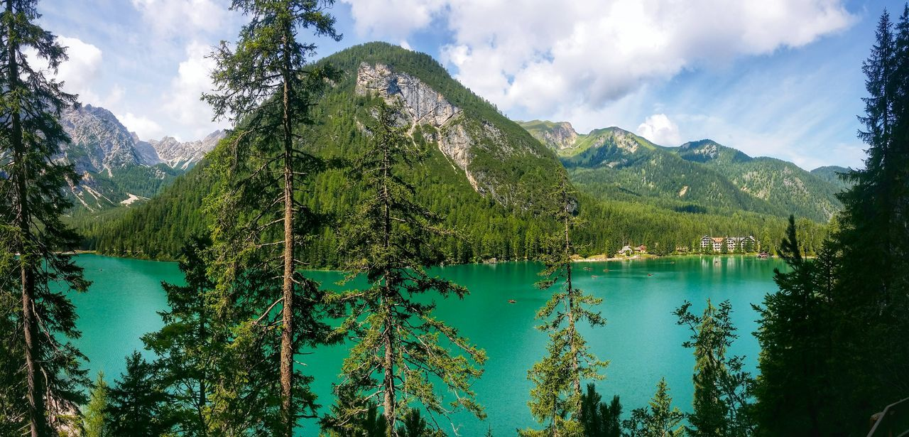 Braies Lake Bolzano Trentino Alto Adige Italy Travel Photography Travel Voyage Traveling Mobile Photography Fine Art Photography Panoramic Views Scenic Landscapes Breathtaking Sceneries Nature Natural Parks Mountains Reflections And Shadows