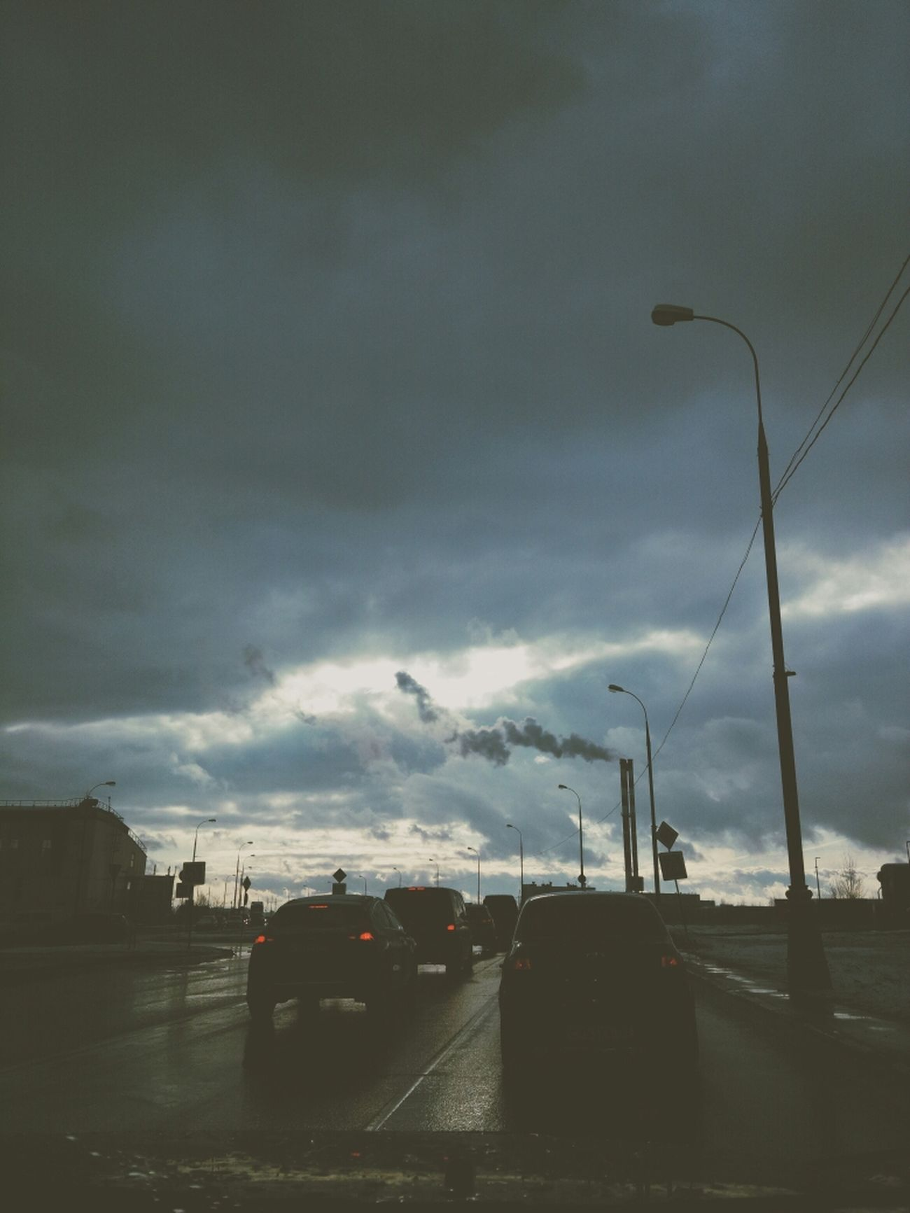 Im Auto Sky And Clouds Sun Travel