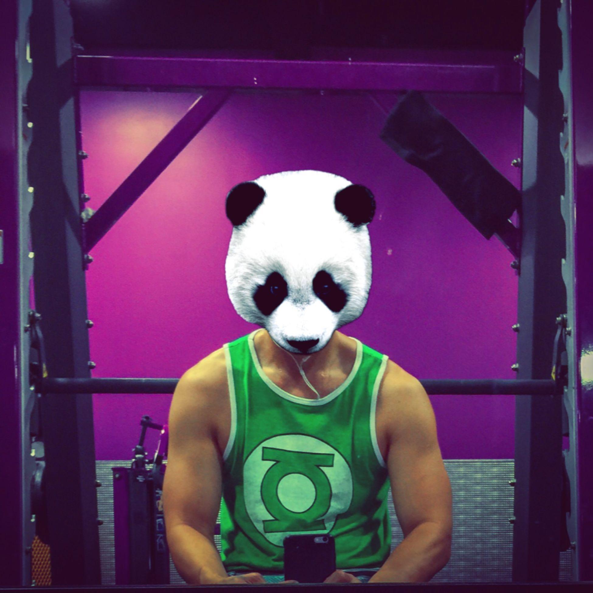 Fitness Selfie Green Lantern  Panda Chestday