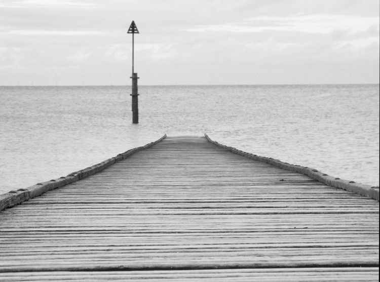 Sea Water Horizon Over Water Outdoors Sky Day Nature Scenics No People Beauty In Nature Black And White Black And White Photography Wales Wales, UK Wales UK Travel Destinations The Way Forward Finding New Frontiers Black And White Friday