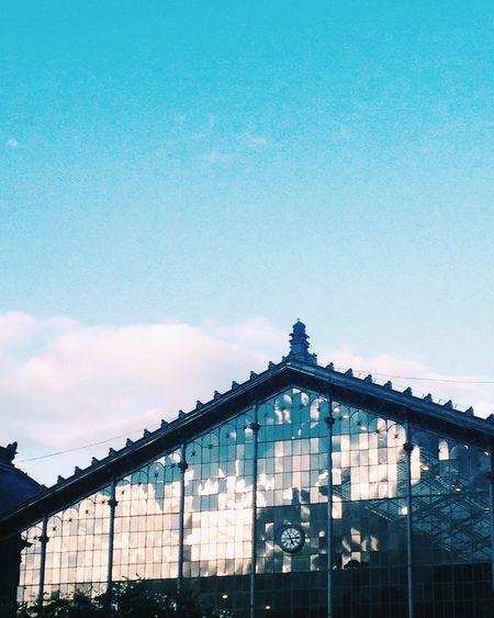 Architecture Sky Built Structure Budapest Nyugati Railway Station Reflection No People First Eyeem Photo