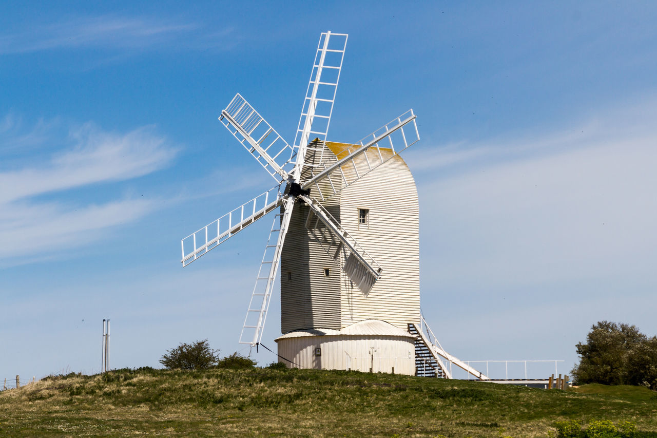 Windmill Alternative Energy Ashcombe Ashcombe Windmill Blue Cloud - Sky Countryside Day Environmental Conservation Field Grass Grassy Green Color Landscape Nature No People Outdoors Renewable Energy Rural Scene Sky Traditional Windmill Tranquil Scene Tranquility Wind Power Wind Turbine Windmill