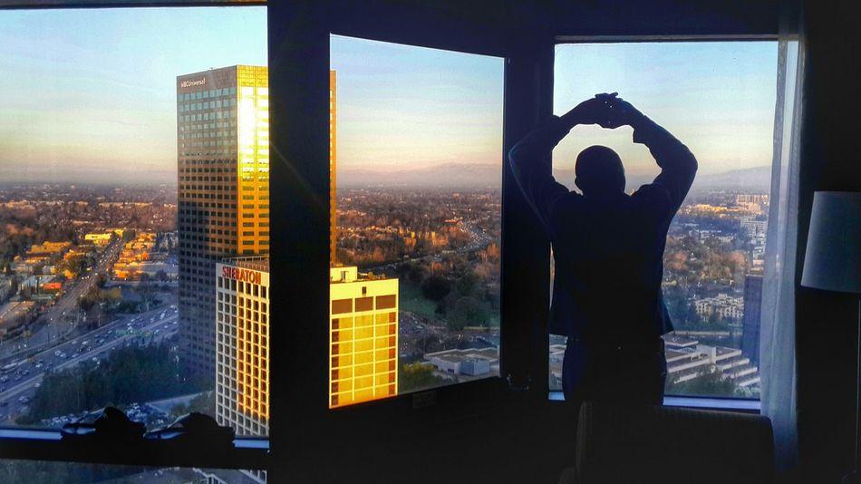 Sight from my hotel room in Hollywood L.A . Losangeles California Sholaanimashaun Aroundtheworldbyluftansa