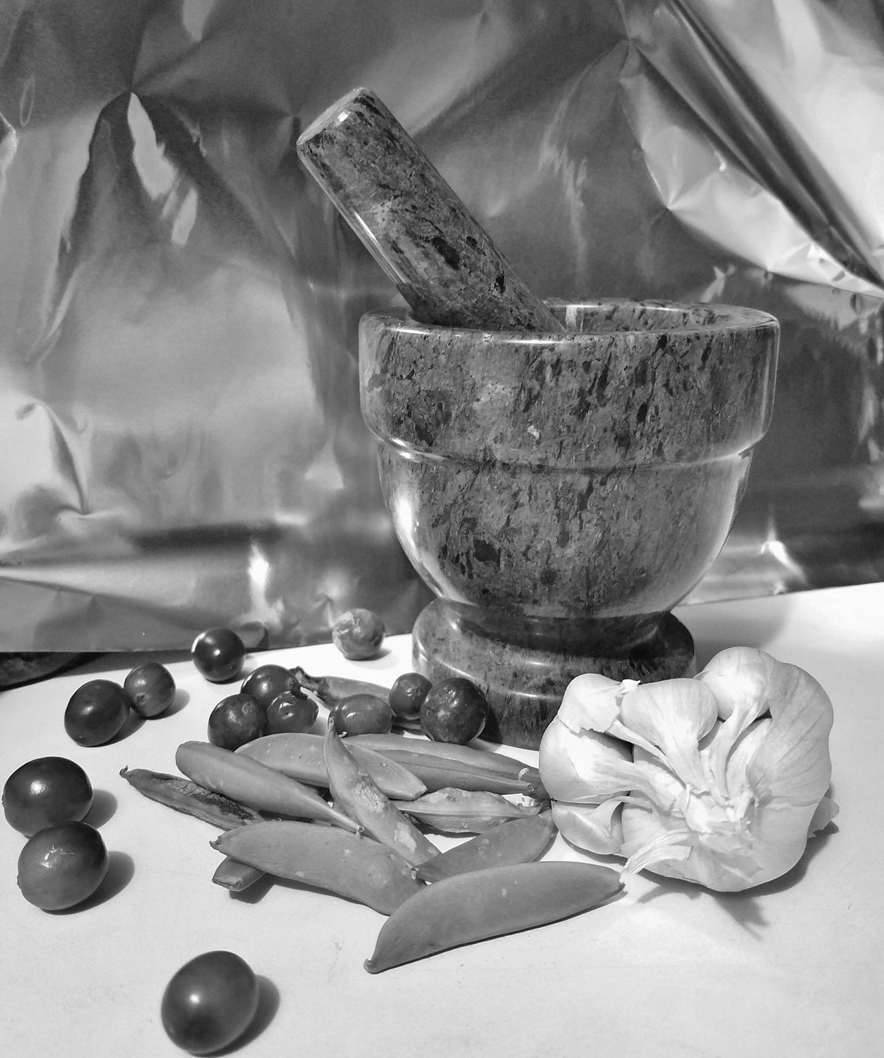 Pestarello Close-up Day Flower Food Freshness Indoors  Mortar And Pestle MUR B&W No People Table MUR On EyeEm