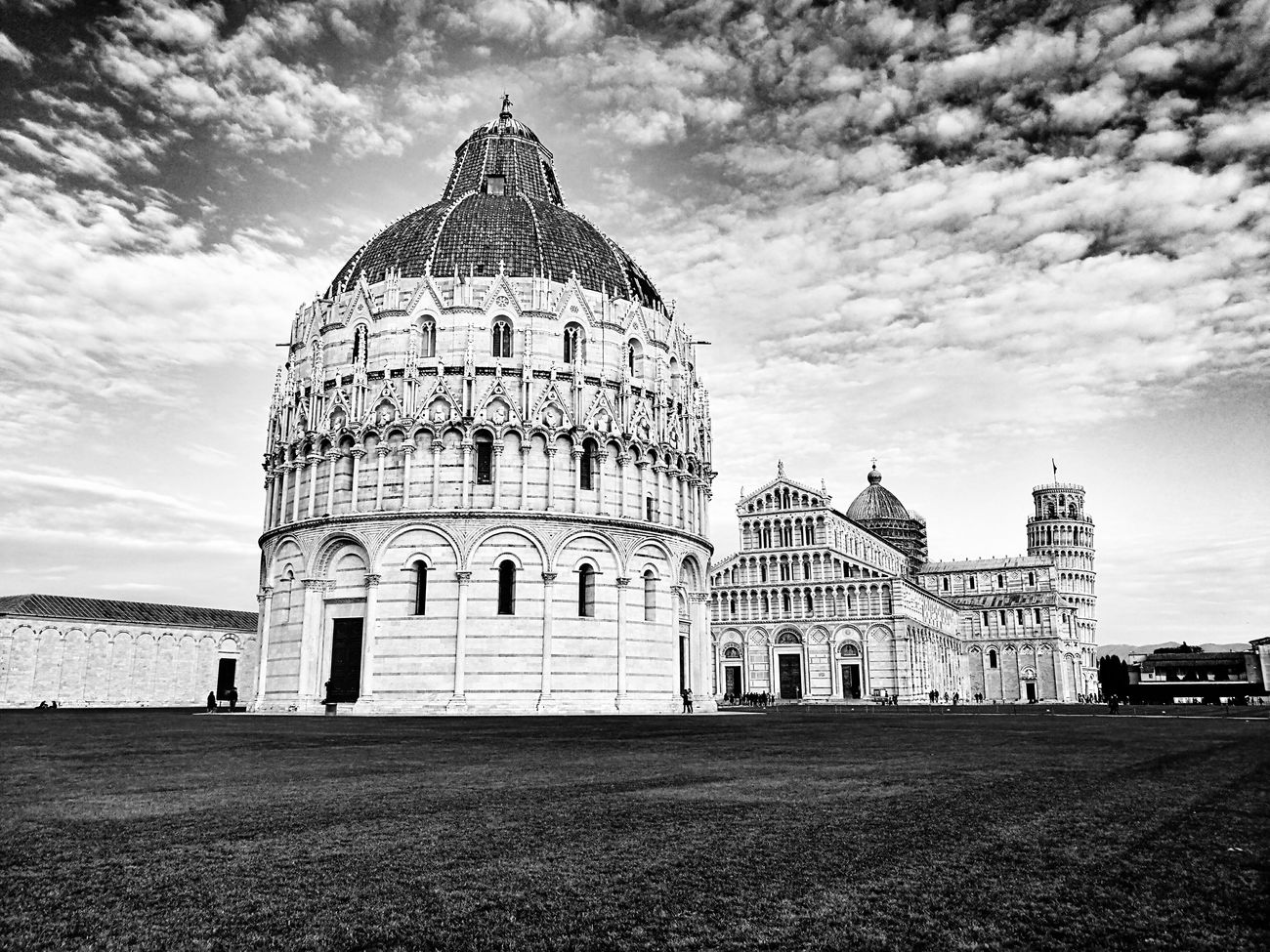 Sky Travel Architecture History Day Tourism Black And White Art Photography Pisa Pisa Tower Italy HuaweiP9