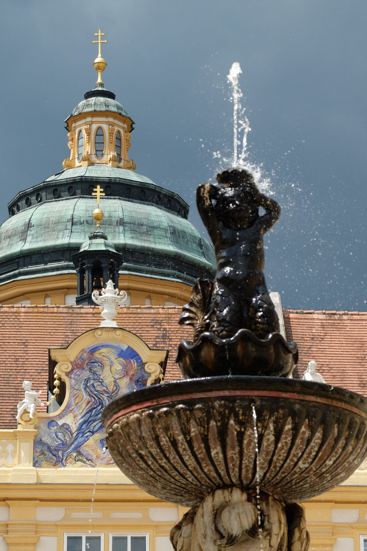 Fountain Architecture Built Structure City Close-up Day Kloster Melk Melk No People Outdoors Sky Statue STIFT MELK Travel Travel Destinations