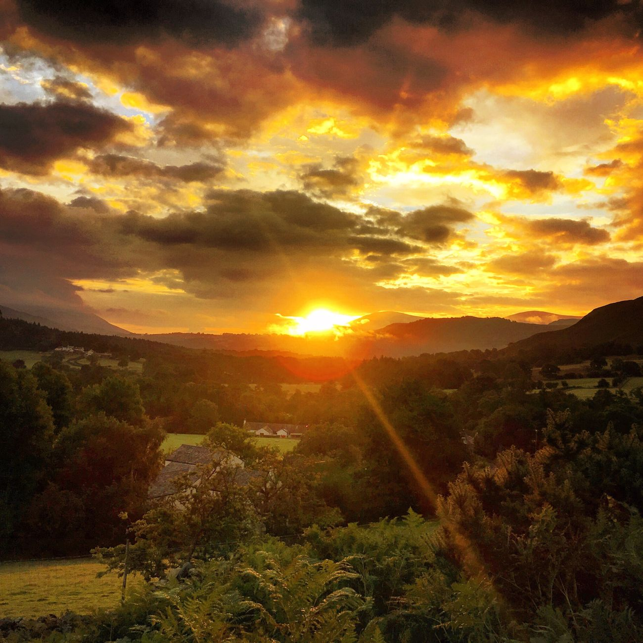 Sunrise Sunrise_Collection Sunrise Colors Sunrisephotography in the Lake District Cumbria England Tranquil Scene Scenics Beauty In Nature Tranquility Cloud - Sky Countryside Eyem Nature Lovers  Landscape_Collection Landscape Landscape_photography Mountains Hills And Valleys Sunbeam Keswick Newlands Pass