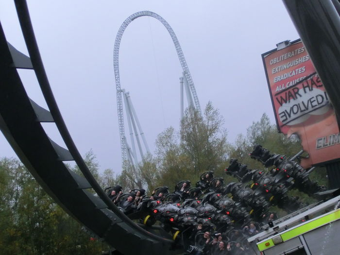 Multiple Layers Ride Roller Coaster Stealth Theme Park Theswarm Thorpepark Timing