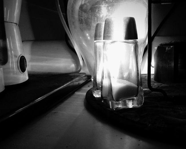Blackandwhite Photography Diner Kitchen Counter Monochrome Saltandpepper Backlight