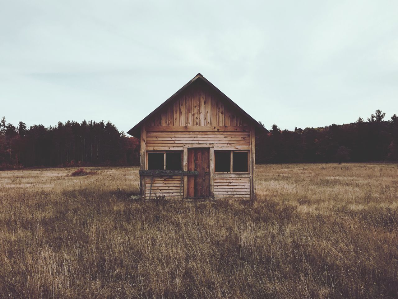 Fall house Grass Architecture Built Structure Field House Grassy Building Exterior Landscape Sky Nature Non-urban Scene Growth Tranquil Scene Tranquility Outdoors Remote Day Weathered Scenics No People Wood