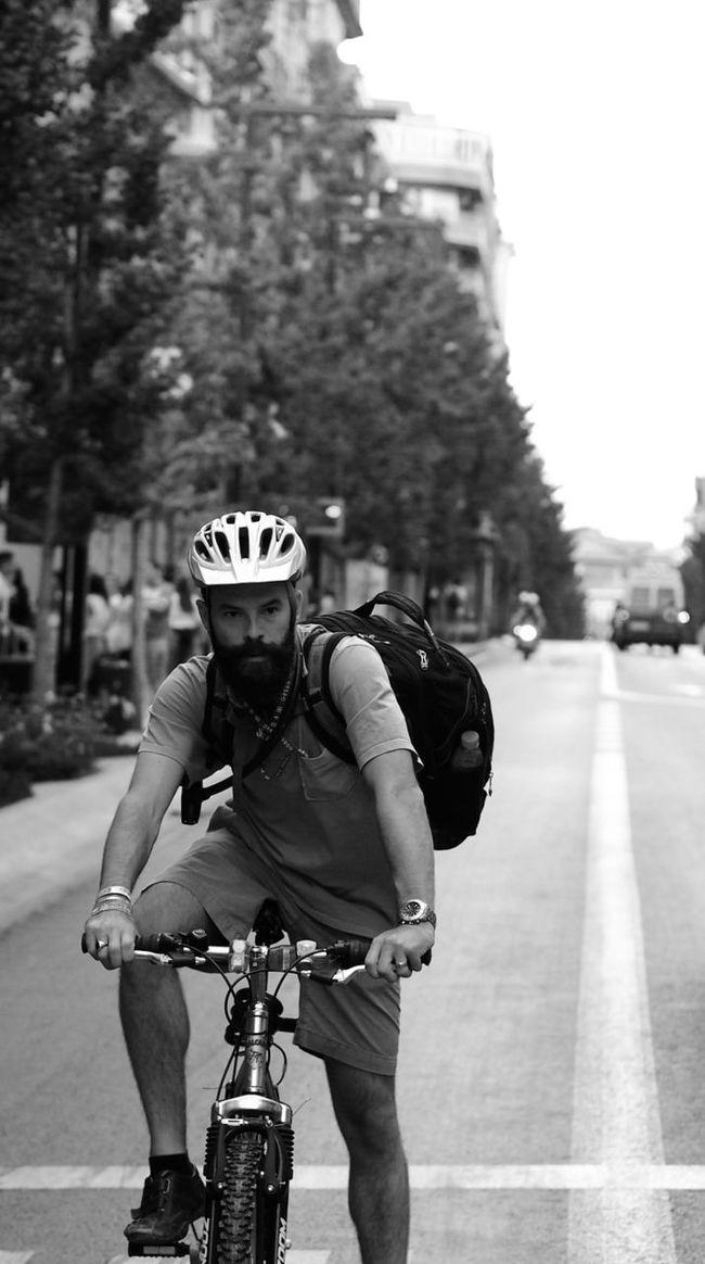 Biker Cyclist Street Biker Street Messenger black and white Street Photography