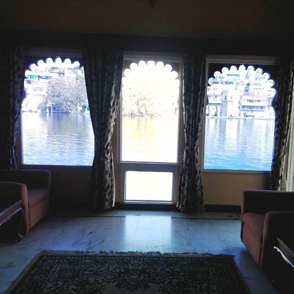 Waking up to this view! Missit Udaipur Rajasthantimes Soindia Cityoflakes Hotel Blue Serene Beauty