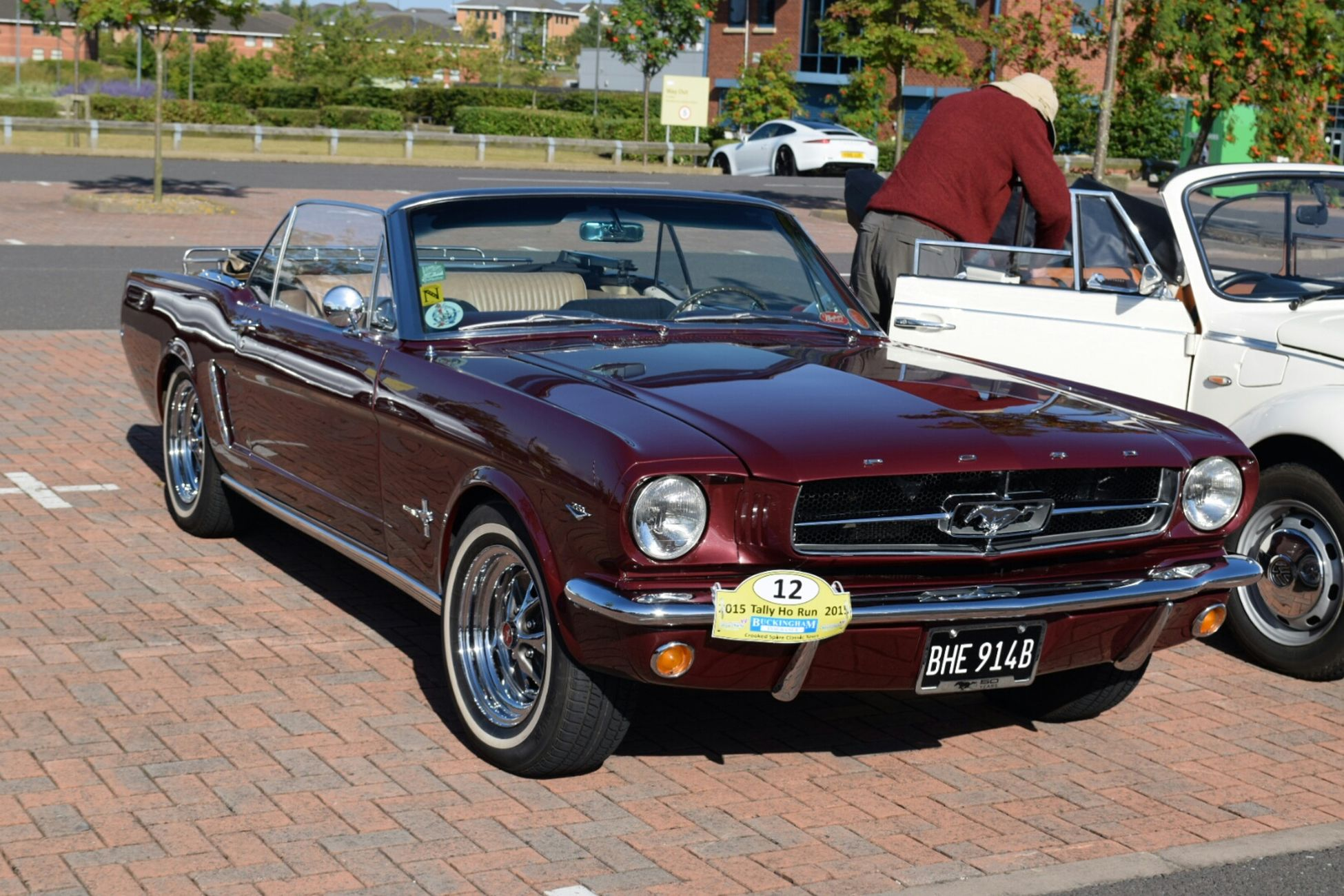 Ford Mustang. classic cars. At An Exhibition