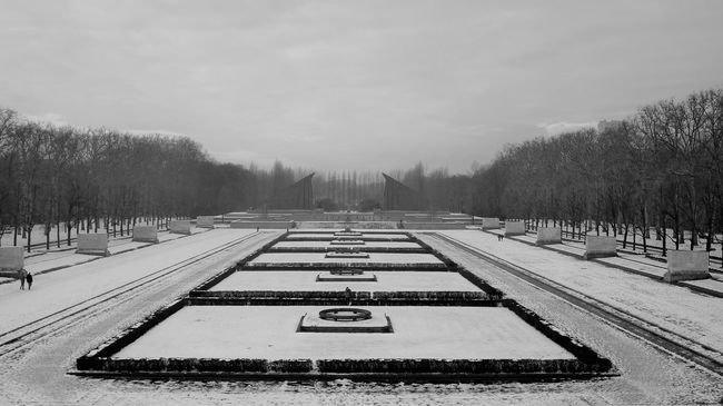 Treptower Park Cold Temperature Covering Day Landscape Outdoors Season  Snow Weather