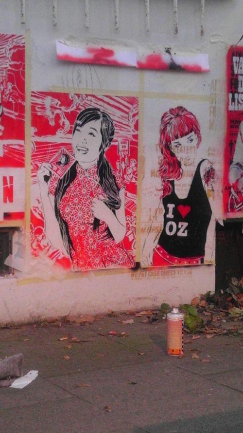 Streetart Urban Hamburg Wall Schablone Finding New Frontiers The Street Photographer - 2017 EyeEm Awards