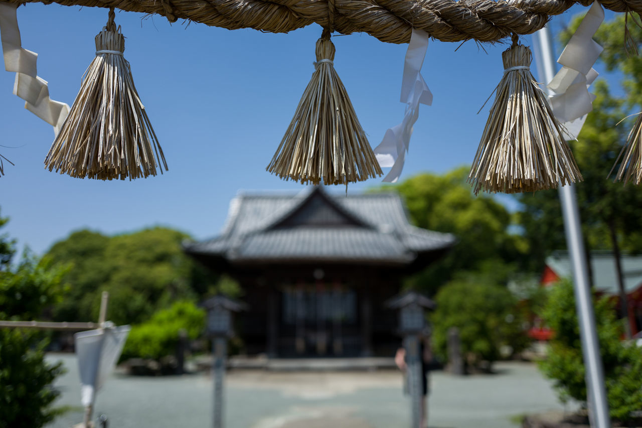 Photos from Omuta, Japan Architecture Close-up Day Focus On Foreground Hanging Japan KYUSHU No People Outdoors Roof Sky Thatched Roof