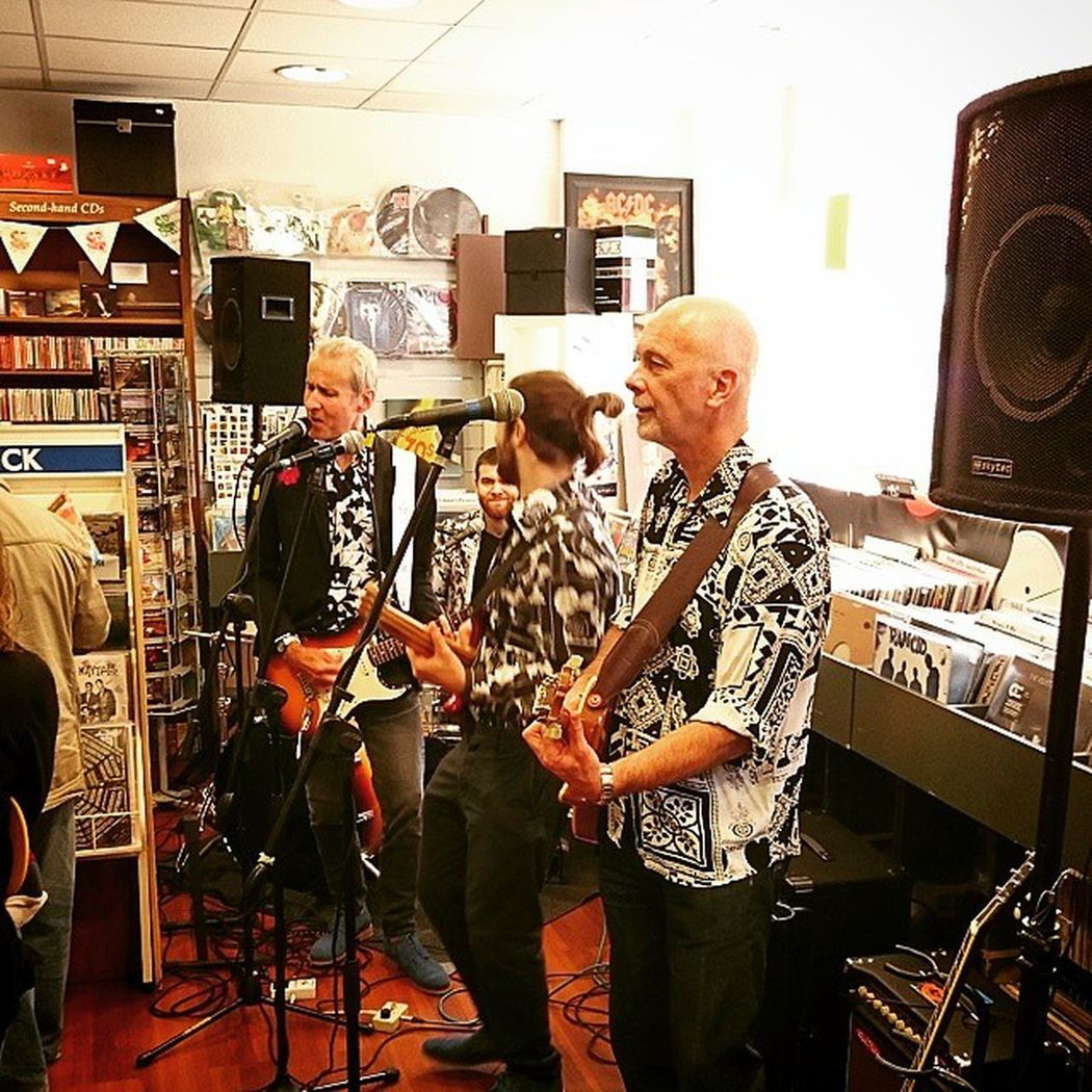 And the Band David Sinclair Four in full swing at David's Music Shop Letchworth Hertfordhshire RecordStoreDay Event Guitars Singing XperiaZ3