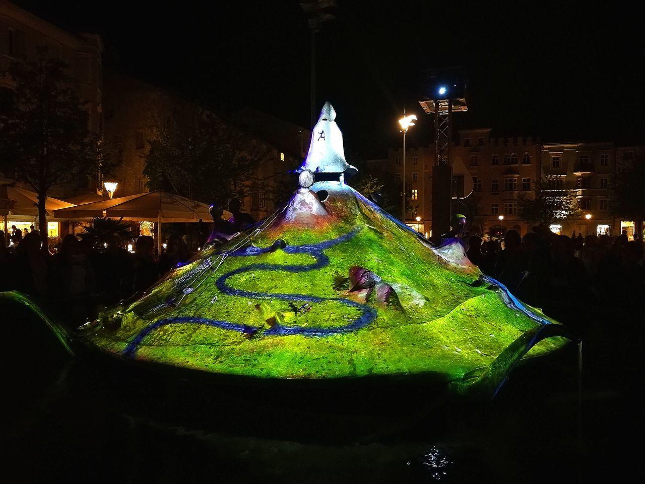 Coloured fountain in the mainsquare Night Illuminated Fountain Alto Adige Italy🇮🇹 Bressanone Isarco No People Arts Culture And Entertainment Multi Colored Nightlife Tourism