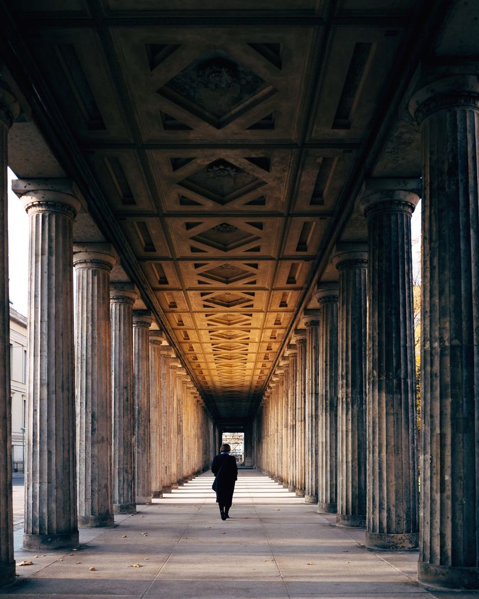 Berlin Classic Architecture Architectural Column Street Photography Built Structure Full Length One Person City Real People