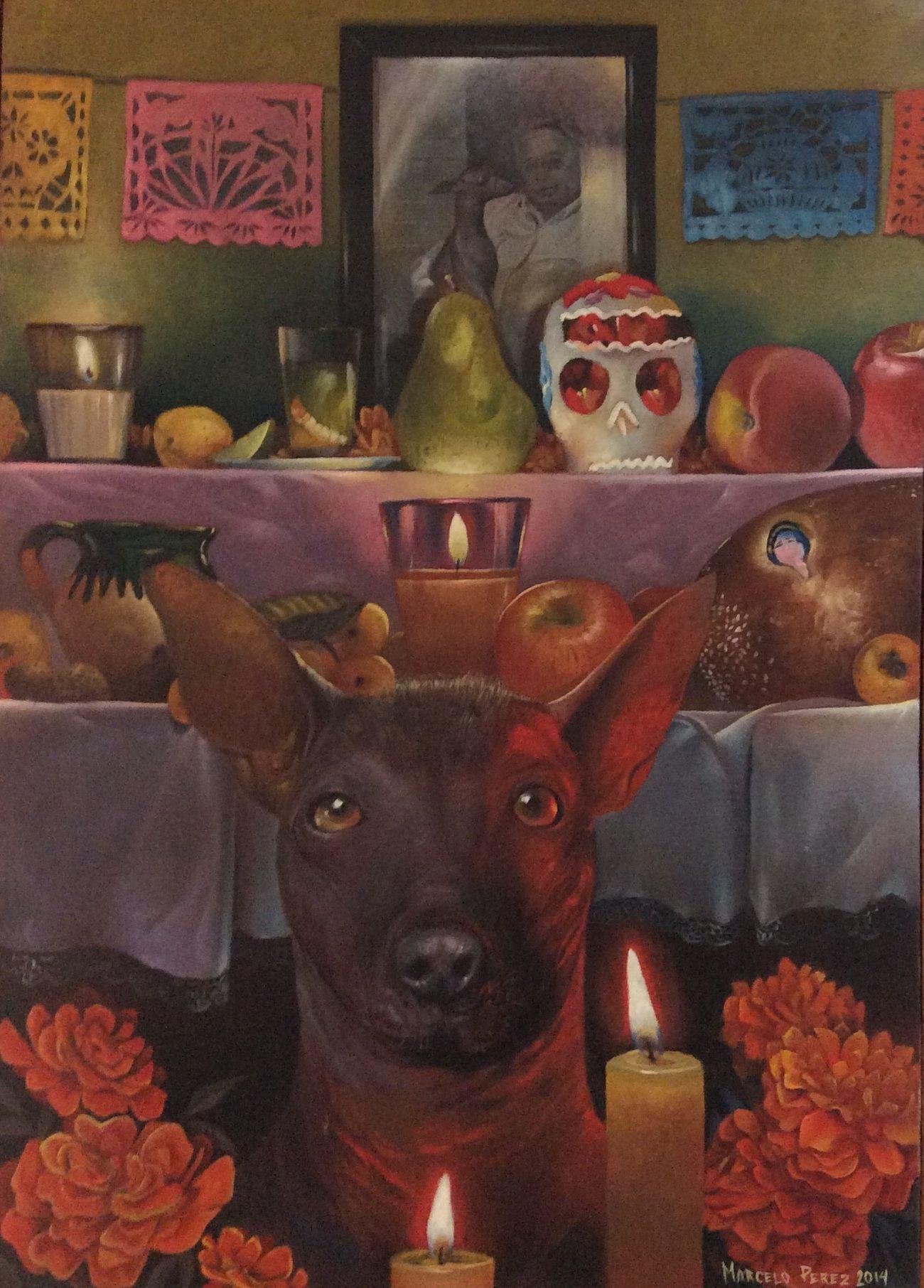 Obra de Marcelo Perez Oil Painting Terracota Arte Actual Art Gallery Art Oaxaca Yucatan Mexico