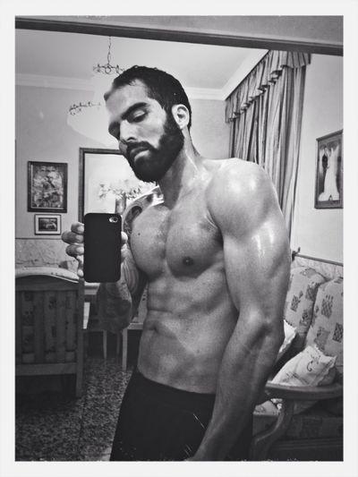 Bodybuilding Fitness Blackandwhite Healthy