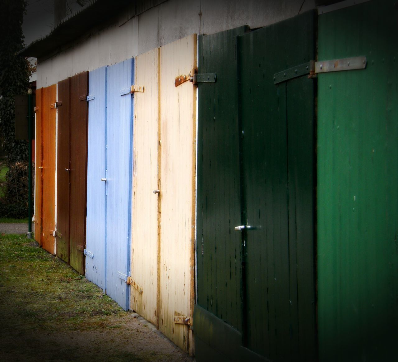 Garage Doors Colorful Outdoor Photography No People