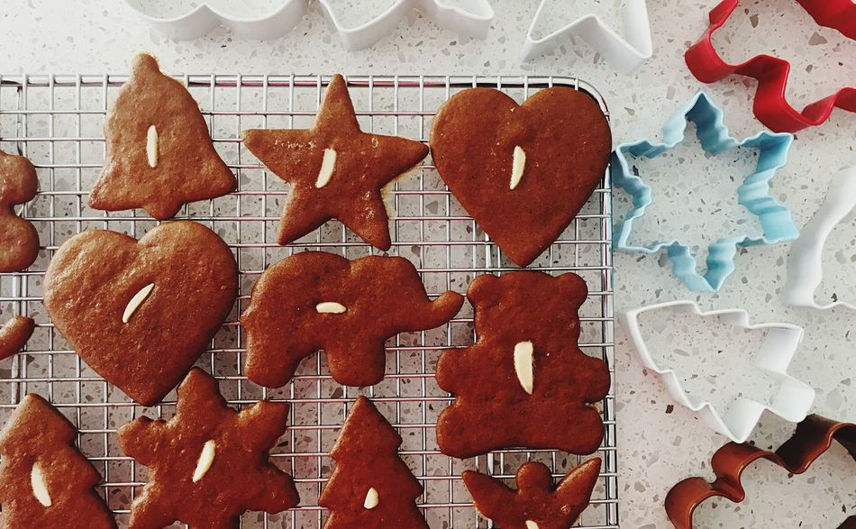 Christmas Heart Shape Cookie Gingerbread Cookie Sweet Food Pastry Cutter Cookie Cutters Biscuits Gingerbread Piparkukas Baking Indulgence Cookies