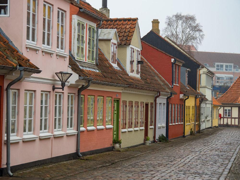 Architecture Building Exterior Built Structure Colorful Cultures Denmark Row House Scandinavian Style