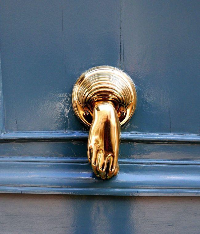 Knocker Gold Hand Door