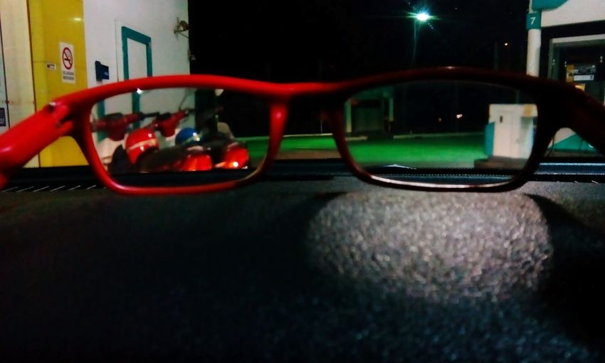 Reflection Night Outdoors No People Nightlife Eyesglasses Focus