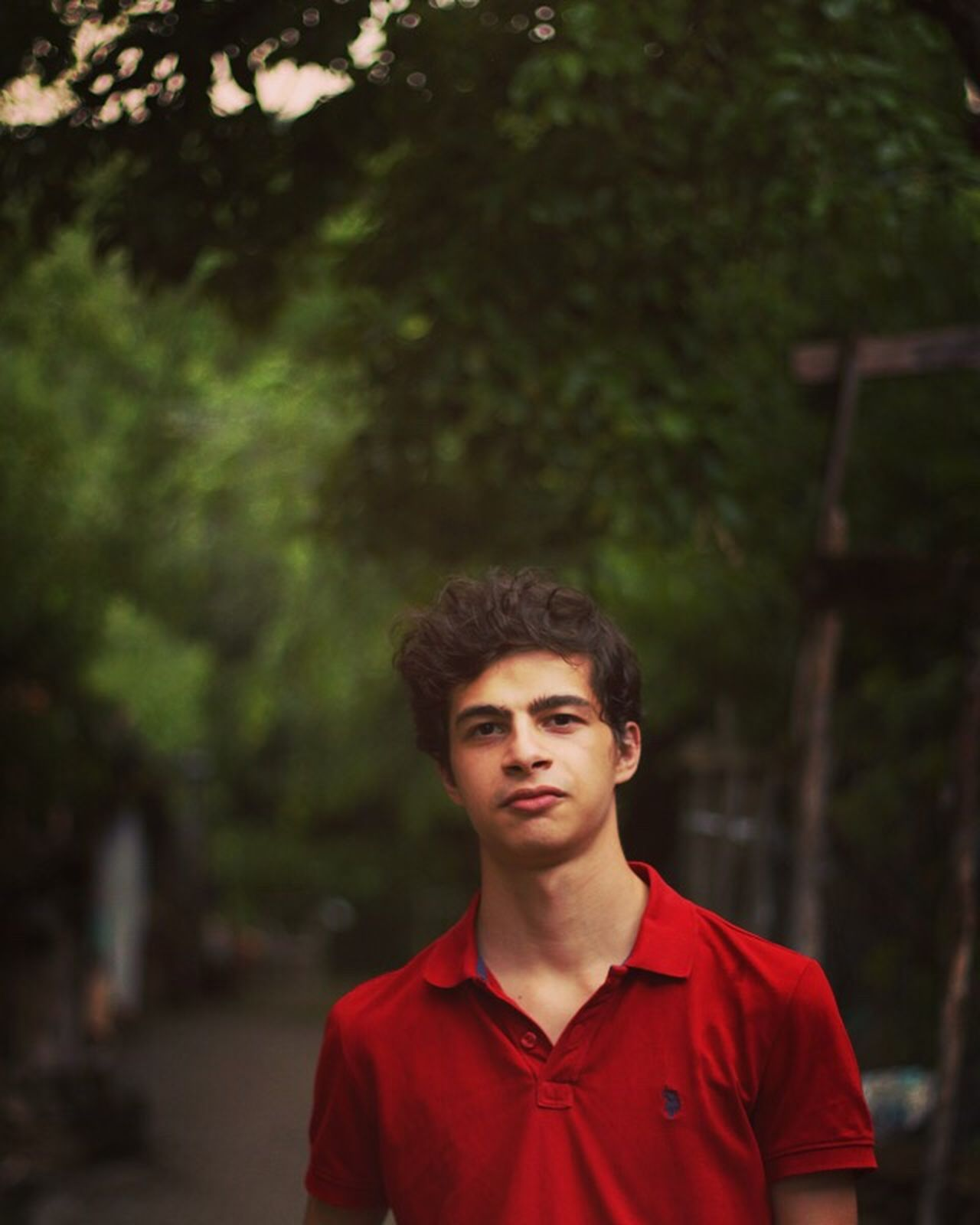 EyeEm Selects EyeEmNewHere Young Adult Real People Tree One Person Young Men Outdoors Front View Casual Clothing Focus On Foreground Day Lifestyles One Young Man Only Portrait Nature People