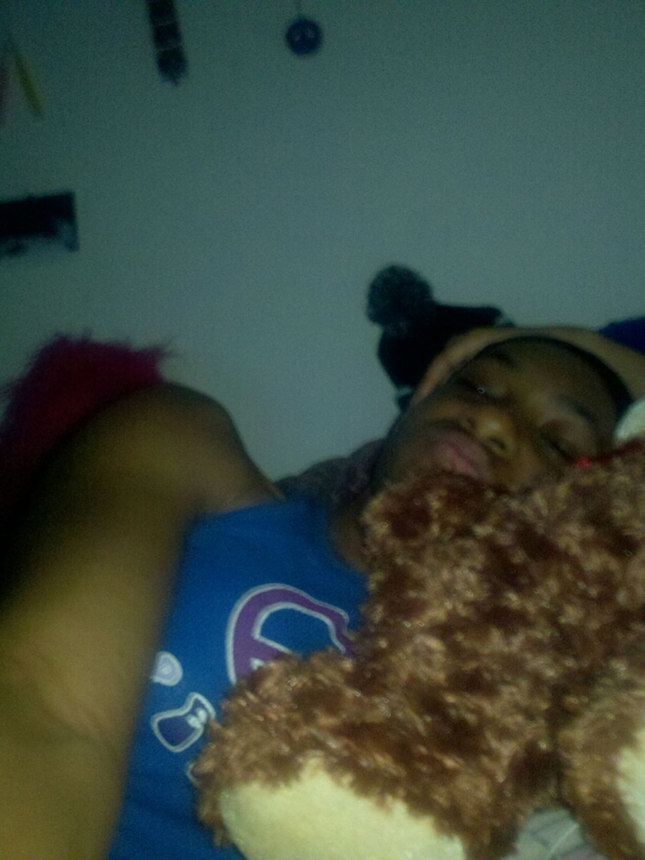 Me And My Teddy Bear!  While On The Fone Wit @dre_days